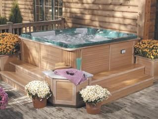 If You Re Thinking About Installing A Spa On Your Deck Here S A Guide To Everything You Need To Know Are They Worth The Hot Tub Surround Hot Tub Deck Hot Tub