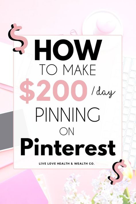 How to Make Money On Pinterest in 2020 | Pinterest Jobs | Live Love Health Wealth