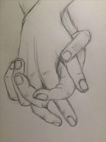 Practical Sketch Holding Hands 4 - Pinkishcoconut #drawingsideasHands ... - #artdrawings