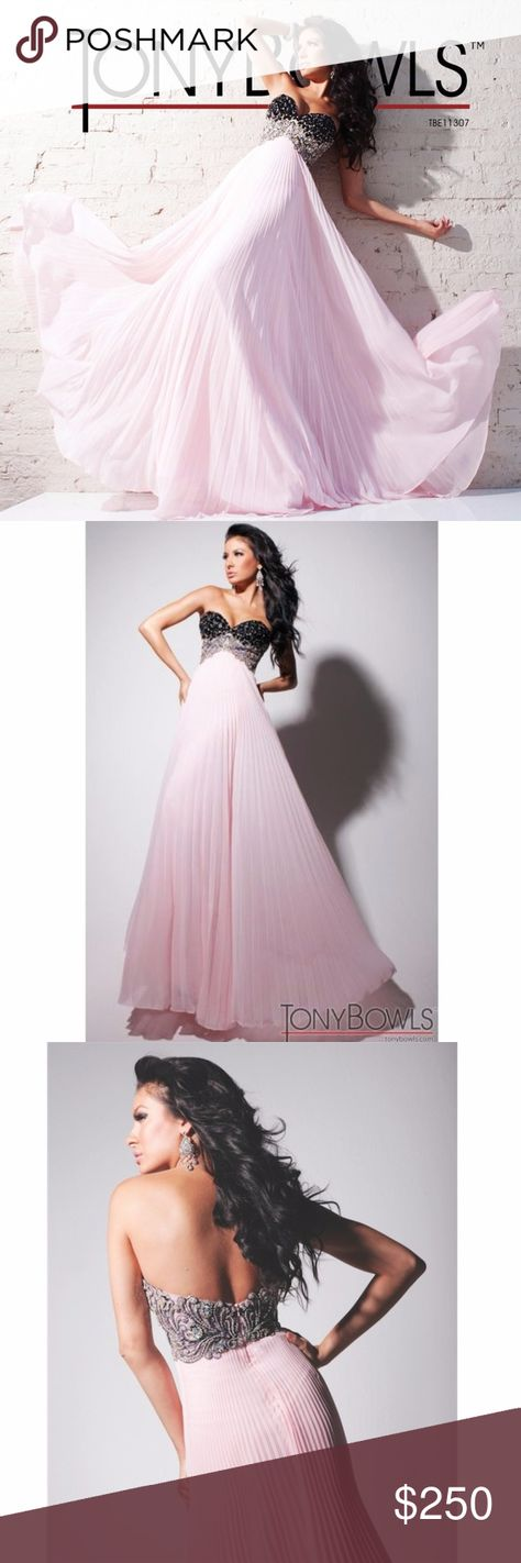 03b47ca2a172 Prettily pleated dress by Tony Bowls Evening Deck yourself out in something  that`s truly