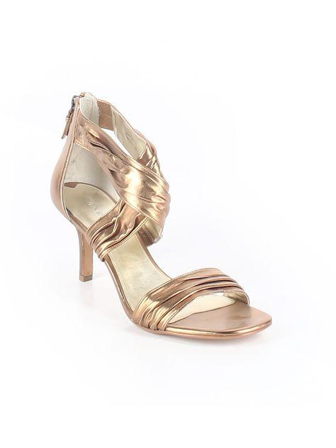 Gold heels, Women shoes, Leather flats