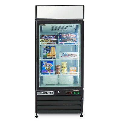 Maxx Cold Mxm1 12fb Single Glass Door Black Commercial Merchandiser Freezer 12cf In 2020 Glass Door Glass Double Glass Doors
