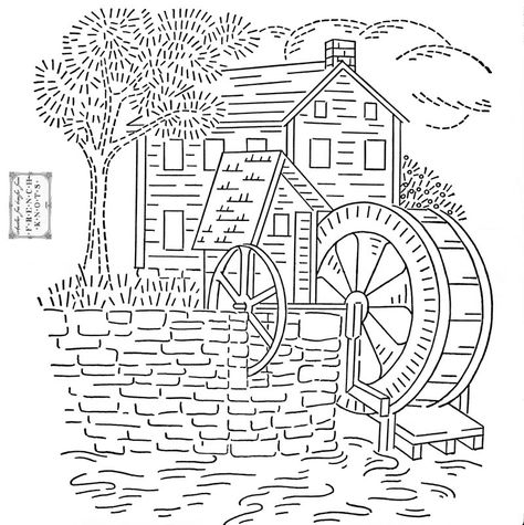 Embroidery Patterns Scenes Neddle Work Once More Pinterest