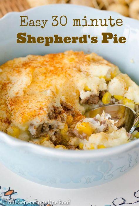 easy shepherd's pie 30 minute