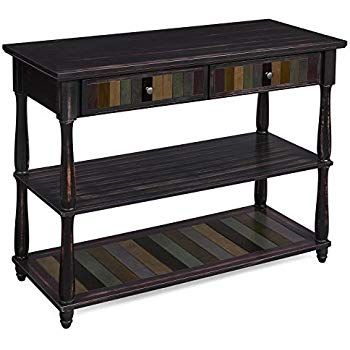 Amazon Com Vasagle Console Table With Colorful Drawers 3 Tier Entryway Table With Shelves For Livi Wooden Console Table Wooden Console Modern Console Tables