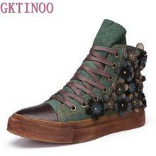 Gktinoo Jesien Zima Kobiety Botki Skorzana Retro Recznie Robione Buty Obuwie Sznurowane Buty Kobiet Pla Casual Ankle Boots Boot Shoes Women Leather Boots Women