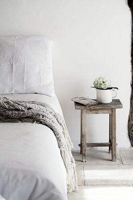 Like the look? Take a look at www.naturalbedcompany.co.uk for soft white cotton bedding and solid wood beds