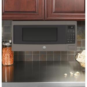 Ge 1 1 Cu Ft Countertop Microwave Oven In Slate Fingerprint