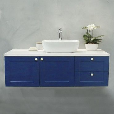 Oliver Deep Blue Wall Hung Vanity Cabinet 1200mm Vanity Cabinet Wall Hung Vanity Vanity