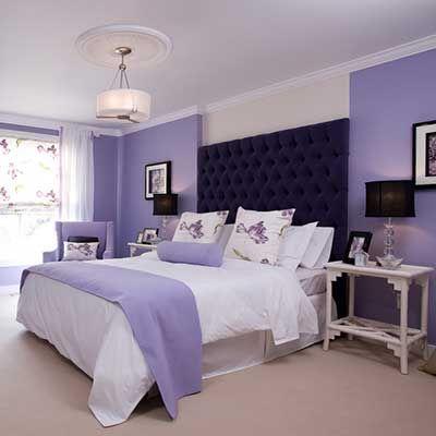 Eflatun Lila Rengi Duvar Boyasi Ornekleri Ve Rengin Anlami Evde Mimar Yatak Odasi Renk Semalari Yatak Odasi Duvar Renkleri Yatak Odasi Renkleri