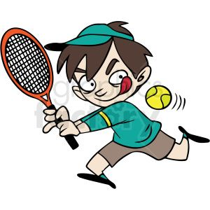 Cartoon Child Playing Tennis Vector In 2020 Clip Art Royalty Free Clipart Cartoon