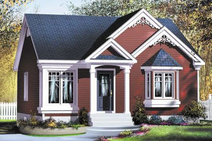House Plan 402 01611 Small Plan 682 Square Feet 2 Bedrooms 1 Bathroom In 2021 Small Cottage House Plans Cottage House Exterior Cottage Style House Plans