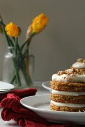 Mini Carrot Cakes with Cream Cheese Frosting #purewow #cake #recipe #dessert #vegetable #sweet