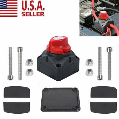 12V Battery Isolator Disconnect Rotary Switch On//Off for Car SUV RV Marine Boat