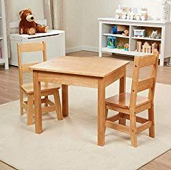 Sturdy And Beautiful Set Of Toddler Furniture Will Accompany Your Kids From 3 To 8 Years Fur In 2020 Kids Wooden Table Wooden Childrens Table Wooden Table And Chairs