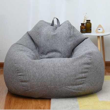 Akoada Classic Bean Bag Chair Sofa Cover Lazy Lounger Bean Bag Storage Chair Cover For Adults And Kids Without Filler Walmart Com In 2020 Bean Bag Chair Bean Bag Chair Sofa
