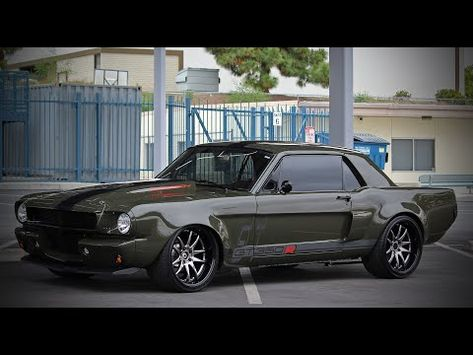 Outrageous appearance, fuel injected 5.0 engine and tons of performance upgrades this Army Green 1966 Mustang is one tough street soldier. Check out the video!