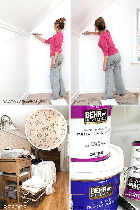 How To Paint Over Wallpaper Salvaged Inspirations Painting Over Wallpaper Home Wallpaper Wallpaper Over Wallpaper