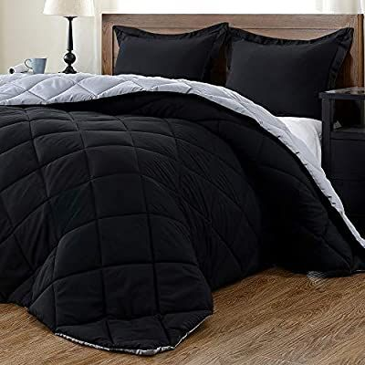 Amazon Com Downluxe Lightweight Solid Comforter Set Twin With 1