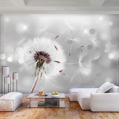 Unglaublich Gross Vlies Fototapete Blumen Pusteblume Grau Tapete