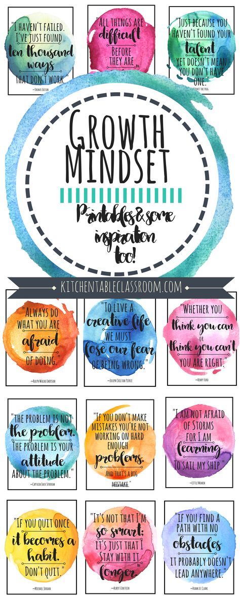 Growth Mindset Quotes for Kids  Parents Printables for the
