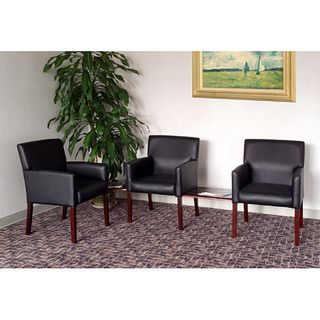 Cool Boss Five Piece Reception Group Set With Black Vinyl Theyellowbook Wood Chair Design Ideas Theyellowbookinfo