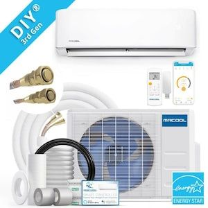 Mrcool Diy 3rd Gen Energy Star 23000 Btu 1000 Sq Ft Single Smart Ductless Mini Split Air Conditioner W In 2020 Air Conditioner With Heater Ductless Mini Split Ductless