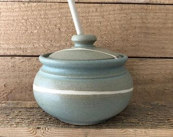 Ceramic Jar With Lid Salt Cellar Container With Lid Stoneware