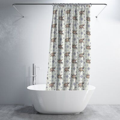 World Menagerie Danvers Mughal Elephant 2 Piece Shower Curtain Set