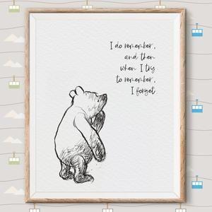 Classic Pooh Art Prints Set of 6. Classic Pooh Illustration. | Etsy