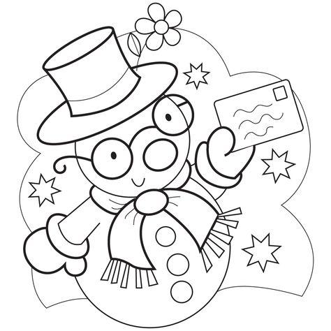 snowman illustration  snowman coloring pages coloring