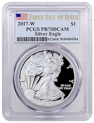 2011-W $1 Burnished Silver Eagle SP70 PCGS Thomas Cleveland Art Deco