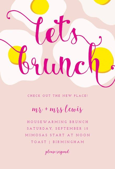 lunch party invitation templates