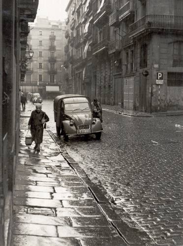 Calle del Rec en Barcelona, 1960.