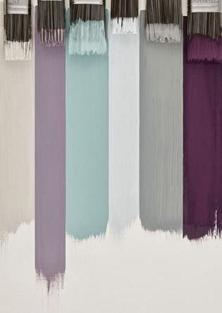 The lavender in my dining room, the grey in my living room & hallways, the plum idk where but it will be somewhere.