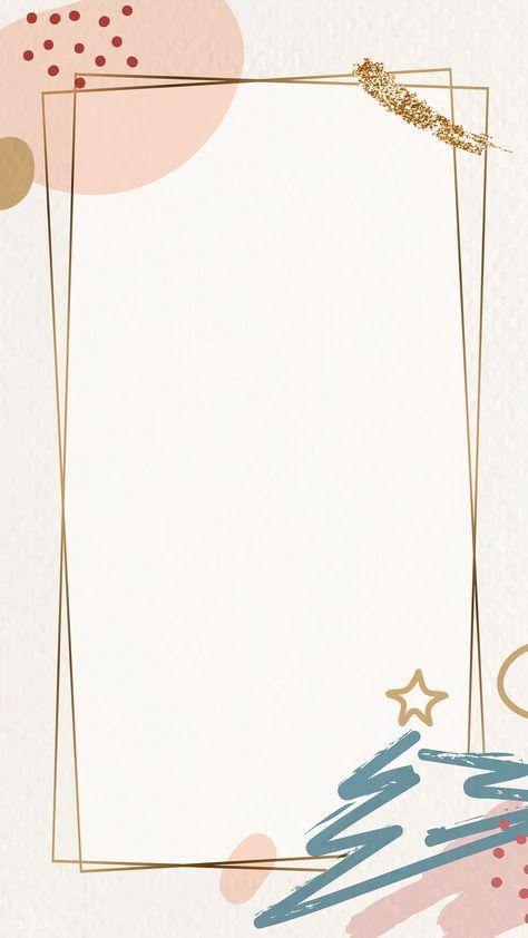 Gold frame on Christmas pattern mobile phone wallpaper vector | premium image by rawpixel.com / Adj #vector #vectorart #digitalpainting #digitalartist #garphicdesign #sketch #digitaldrawing #doodle #illustrator #digitalillustration #modernart #frame