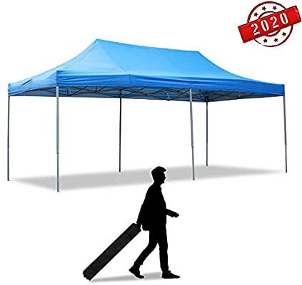 Amazon Com Doit 10ft X 20ft Canopies Portable With Wheeled Carrying Bag Outdoor Pop Up Canopy Tent Heavy Du In 2020 Heavy Duty Gazebo Pop Up Canopy Tent Canopy Tent