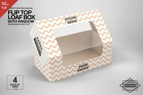Download Flip Top Loaf Box Packaging Mockup By Incdesign On Creativemarket Packaging Mockup Packaging Mockup Templates