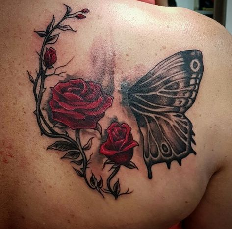 My cover up tattoo done by Nathan Lee Harris at Monki do tattoo studio, Belper