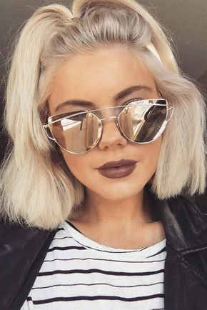 30 So Cute Easy Hairstyles For Short Hair Lovehairstyles Com Short Hair Styles Easy Short Hair Styles Blonde Hair Color