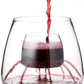 Splurgemerch It S Not Necessity It S Splurge Merch Stemless Fountain Aerating Wine Glass Wine Glass Set Glass Wine Glass