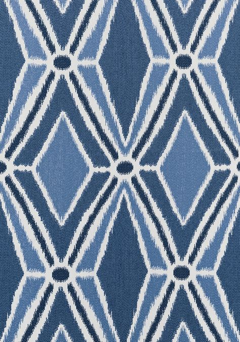 MALABAR IKAT, Blue and White, W735302, Collection Woven 6: Geometrics 2 from Thibaut