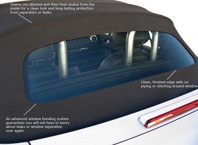 Evolution Of Convertible Top Rear Window Rear Window Convertible Top Convertible