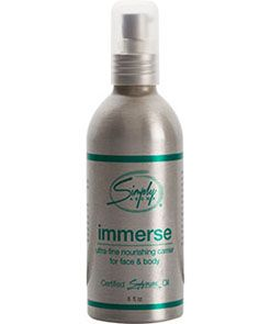 Immerse from Simply Aroma is a unique carrier oil blend is very light and absorbs quickly with no oily residue. #Immerse is delicate enough to use as a facial moisturizer leaving your  skin feeling radiant and soft.  Immerse contains: (Click on Picture for Contents)