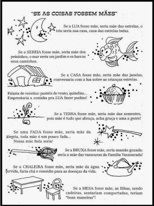 Cartilha De Leitura Para Imprimir So Escola Texto Dia Das Maes