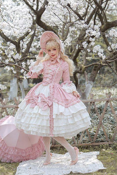 My-Lolita-Dress Official — LolitaUpdate: Rococo~ Elegant Bows Dress. Kawaii Fashion, Cute Fashion, Rock Fashion, Emo Fashion, Fashion Boots, Unique Fashion, Estilo Lolita, Gothic Lolita Dress, Gothic Lolita Fashion