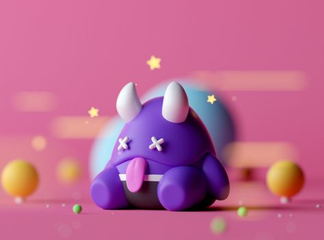 Fatos H. by Gustavo Henrique on Dribbble Monster Characters, Cute Characters, Design Ios, Game Design, Motion Design, Design Thinking, 3d Rose, Modelos 3d, 3d Artwork