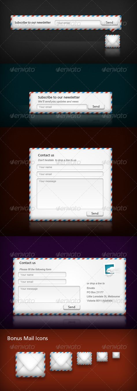 Subscribe \ Contact Forms Contact form, Vector shapes and Fonts - free feedback form