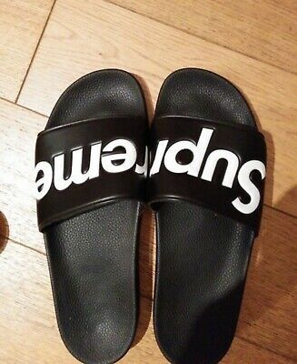BLACK SLIDES SANDALS SIZES FROM UK 3 TO UK 10//44 BRAND NEW IN THE BOX