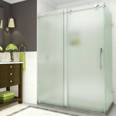 Madam Series 48 X 76 Sliding Frameless Shower Door In 2019